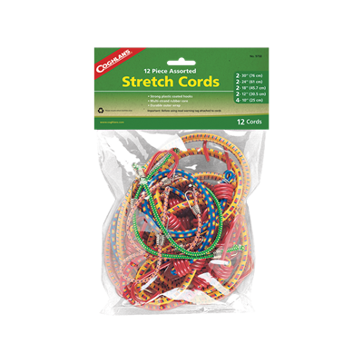 12 Assorted Stretch Cords